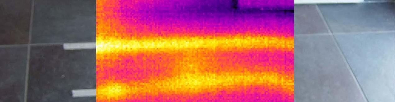 IR foto lekdetectie vloerverwarming